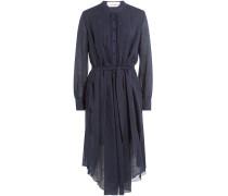 Asymmetrisches Kleid aus Baumwolle und Leinen