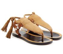 Sandalen aus Leder und Veloursleder