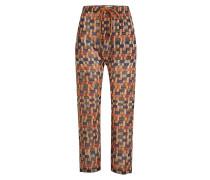 Bedruckte Straight Leg Pants Noua aus Baumwolle