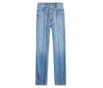 Straight Leg Jeans mit sichtbaren Nähten