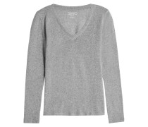 V-Pullover aus Kaschmir und Wolle