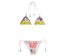 Triangel-Bikini mit Häkelstrick