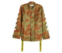 Camouflage-Jacke mit Label-Detail