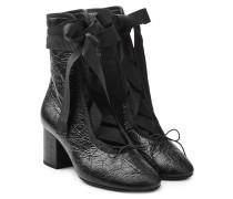 Ankle Boots Rockstud Ballet aus Leder mit Schnürung