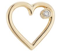 Herz-Ohrstecker aus 18kt Gelbgold mit Diamant