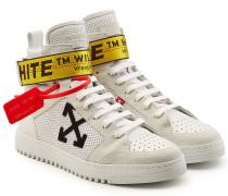 High Top Sneakers aus Veloursleder und Leder mit Applikation