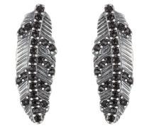 Ohrringe Dark Plumes mit Kristallen