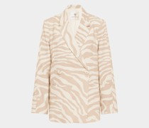 Blazer mit Animal-Print