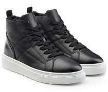Gefütterte High Top Sneakers aus Leder
