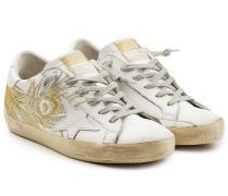 Bestickte Sneakers Super Star aus Leder
