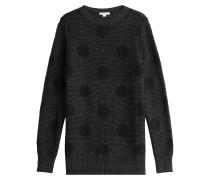 Gepunkteter Pullover aus Wolle und Kaschmir