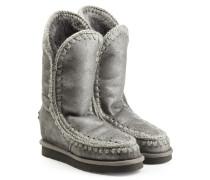 Boots Eskimo Wedge Tall aus Schafleder mit Metallic-Effekt