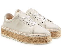 Sneakers aus Leder mit Espadrille-Sohle