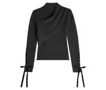 Drapierter Pullover aus Schurwolle