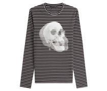 Gestreiftes Langarmshirt mit Print