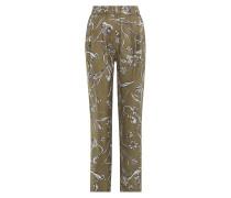 Loose-Fit-Pants aus Seide mit Print