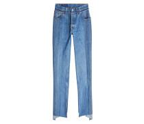 Reworked Push-Up Jeans aus Baumwolle