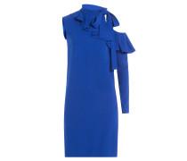 Asymmetrisches Kleid mit Volant und Schluppe
