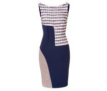 Etui-Dress mit Bouclé und Tweed