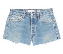 Gefranste Jeans Shorts