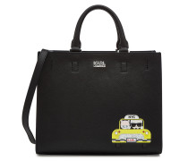 Mini-Shopper NYC Taxi mit Leder und Applikation