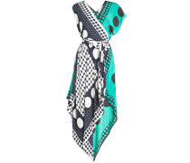Asymmetrisches Kleid aus Seide mit Print