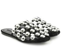 Flats aus Leder mit Nieten