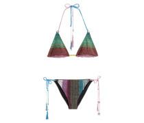 Triangel-Bikini mit Metallic Finish