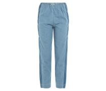 Denim-Pants mit elastischem Bund