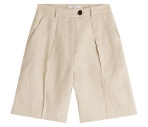 Bermuda-Shorts aus Leinen