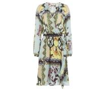 Wickelkleid aus Seide mit Print