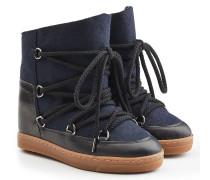 Wedge Boots Nowles aus Filz und Leder