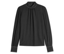 Bestickte Bluse aus Seide