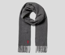 Schal mit Label-Stitching