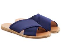 Sandalen Thais aus Satin mit gekreuzten Riemen