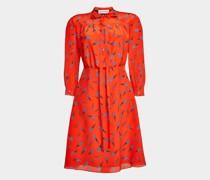 Kleid aus Crêpe de Chine