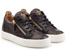Sneakers aus geprägtem Leder