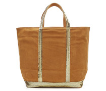 Pailletten-Shopper aus Leder