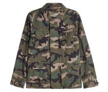 Outdoor-Jacke aus Baumwolle mit Camouflage-Print