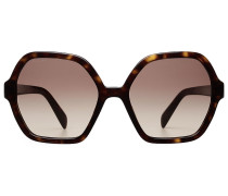 Oversize-Sonnenbrille in Schildpatt-Optik