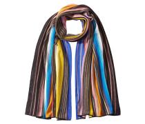 Gestreifter Schal aus Zickzack-Strick