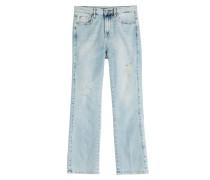 Verwaschene Cropped Jeans