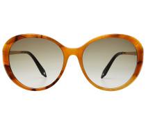 Sonnenbrille mit Schildpatt-Optik und Metallbügeln
