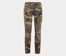 Skinny Jeans in Camouflage-Optik