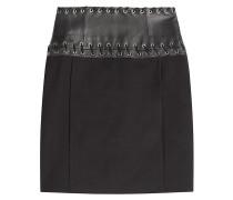 Mini-Skirt mit geschnürtem Lederbund