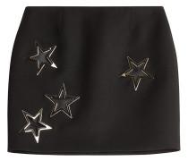 Mini-Skirt aus Schurwolle mit Sternen