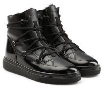 Boots mit Leder und Webpelz