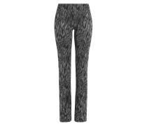 Straight-Leg-Pants aus Jersey im Metallic-Look