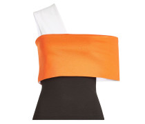 One Shoulder Top im Color Block Look
