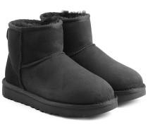 Boots Classic Mini aus Veloursleder mit Lammfell